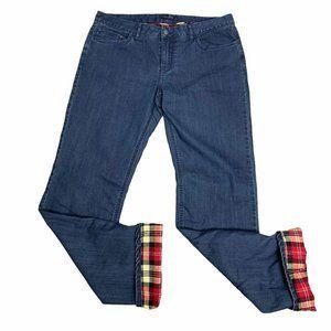Prana Flannel Lined Denim Jeans 12 Boyfriend